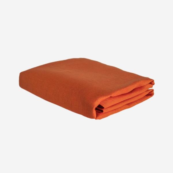 Orange linneduk från Linneverket