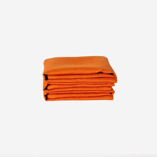 Orange linneservett från Linneverket