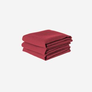 Röd linneservett från Linneverket