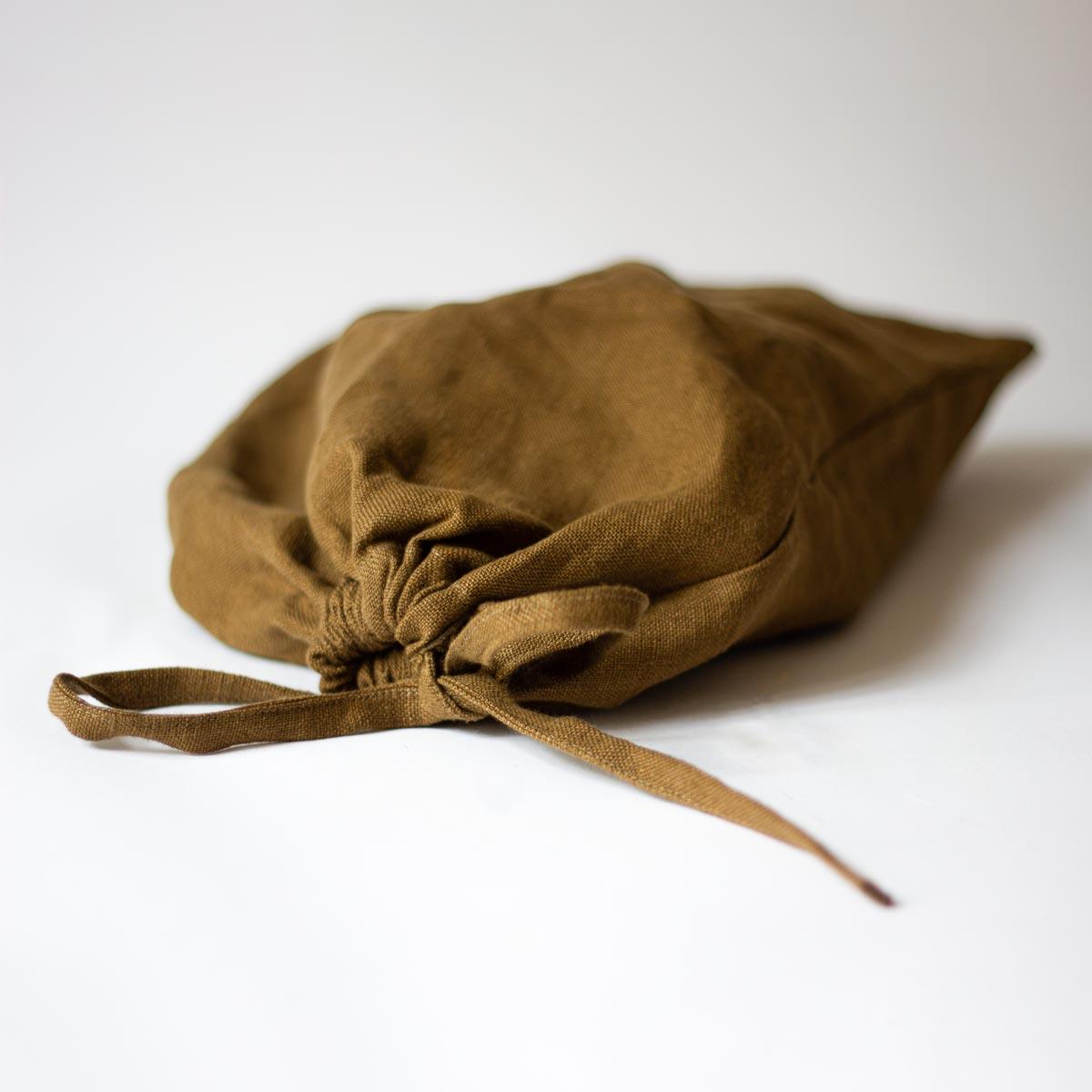 Brun brödpåse i 100% linne. Rena lyxen för ditt nybakta bröd!