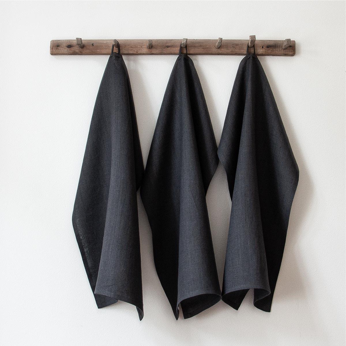 Antracite handduk från Linneverket
